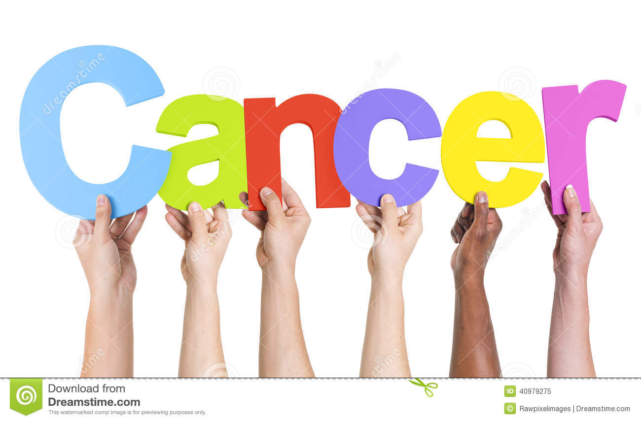 Diverse Hands Holding The Word Cancer Stock Photo - Image: 40979275