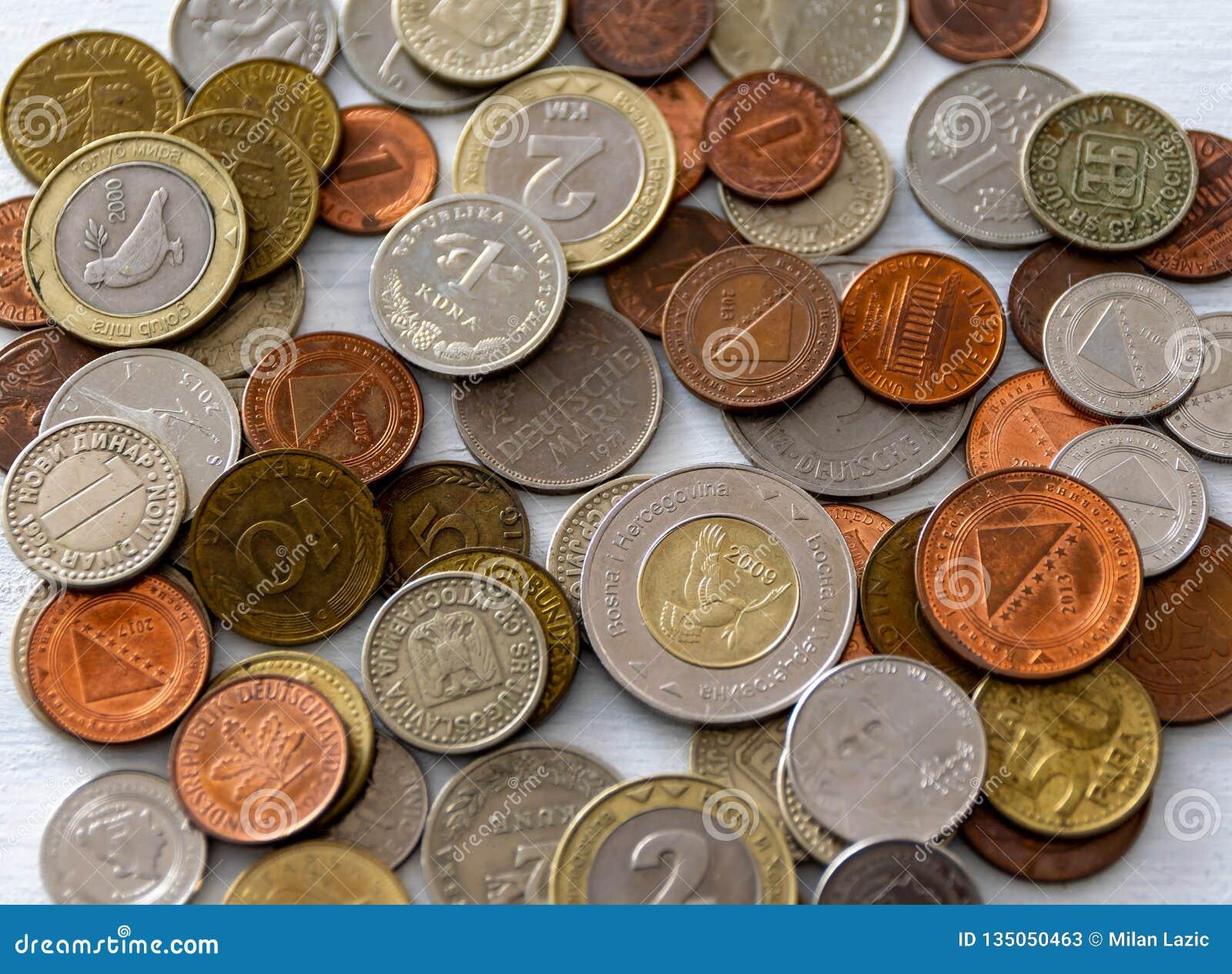 Diverse internationale muntstukken