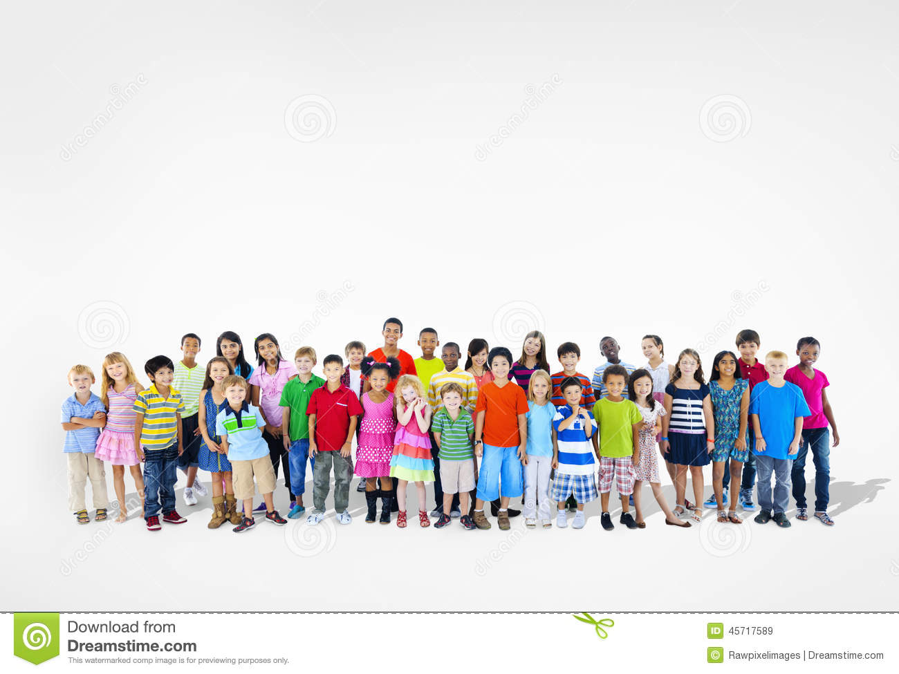 Diverse Multi-Ethnic Group Of Children Stock Photo - Image ...