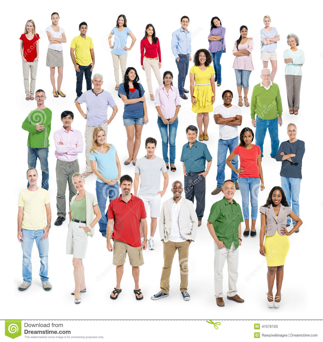 Diverse Multi-Ethnic People Posing For The Camera Stock ...