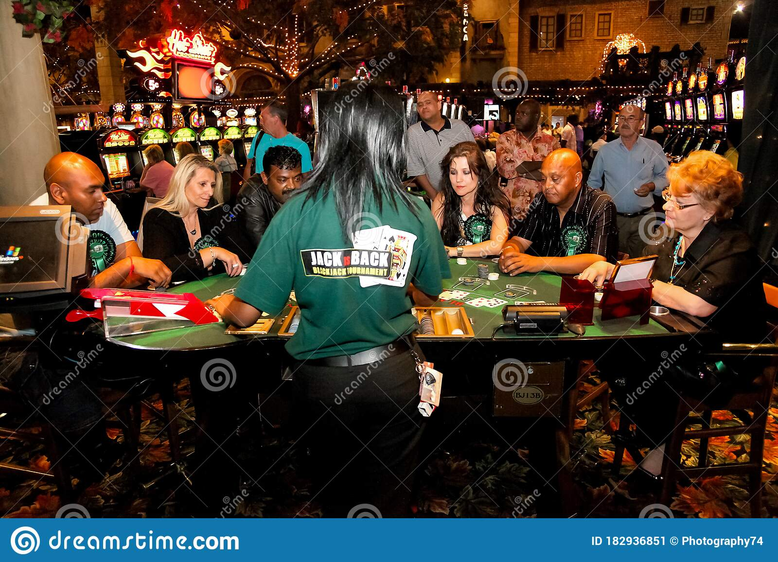 Diverse People Playing Blackjack Card Game At Casino Table Editorial Photo Image Of Cards Lifestyle 182936851
