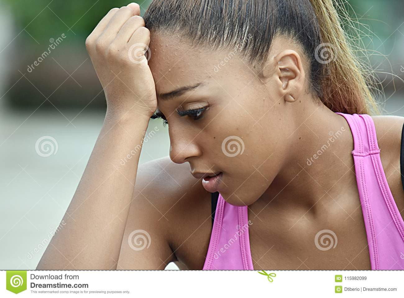 Diverse Teenager Female And Sadness Stock Image - Image of ...