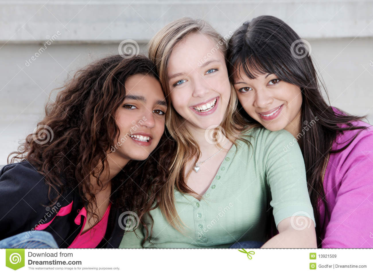 Royalty Free Diverse Teens Looking 33