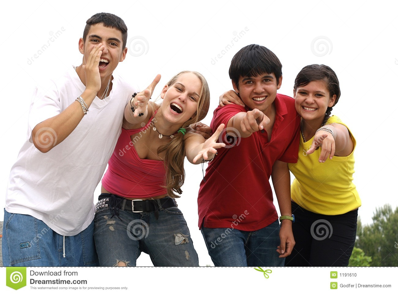 diverse teens youth teenagers