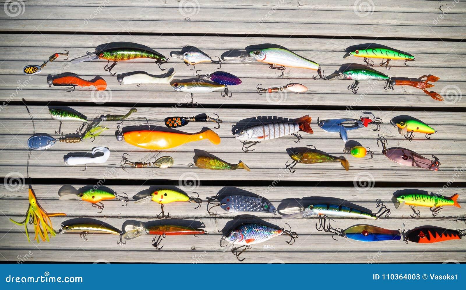 Diverses amorces pour les poissons prédateurs contagieux sur la rotation
