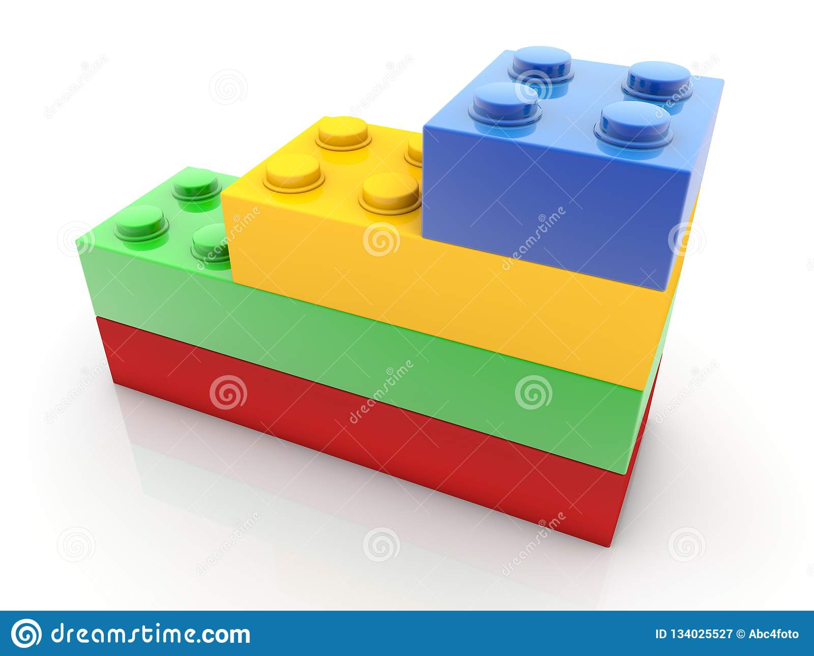 Diverses briques de taille de jouet