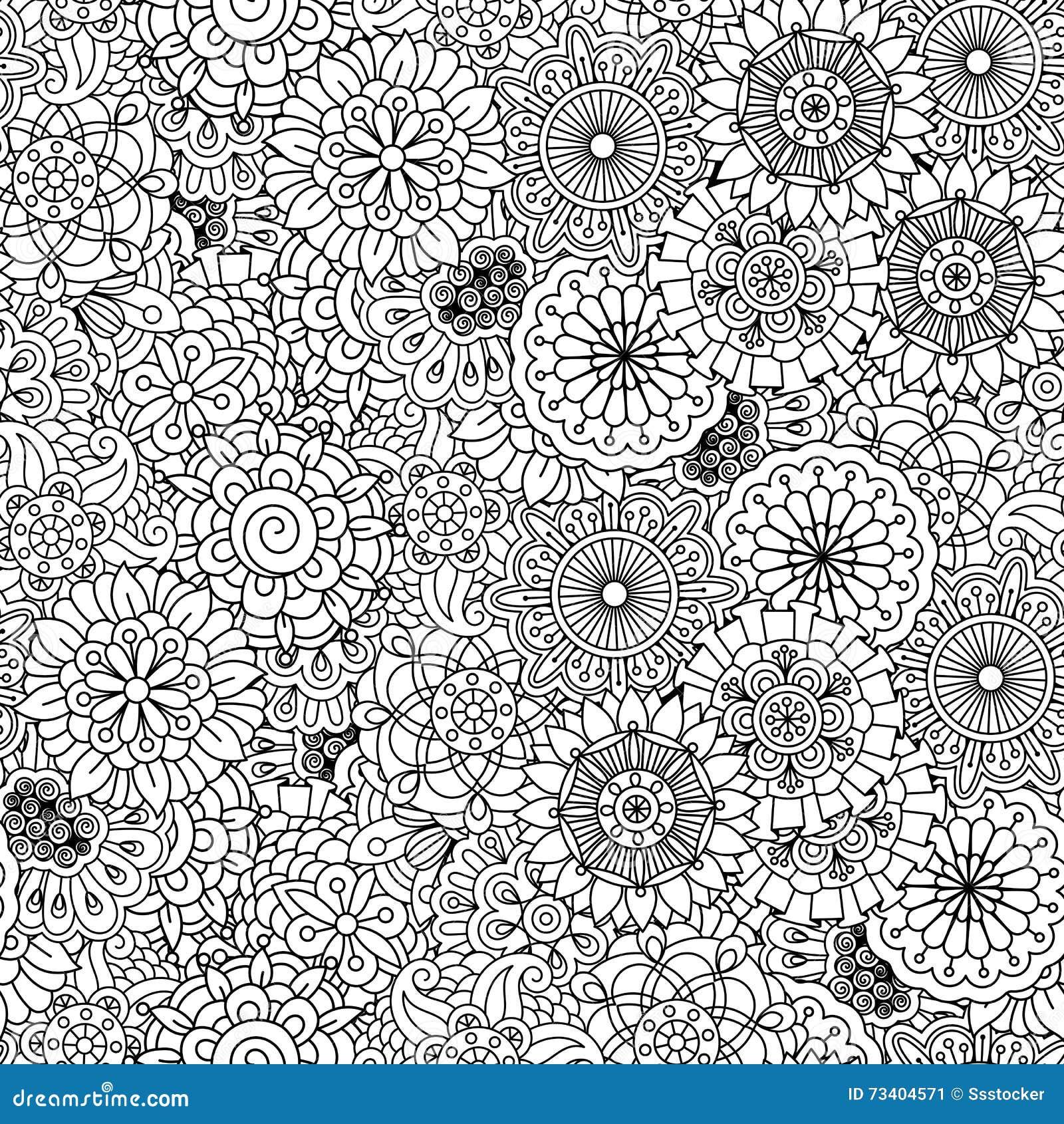 Diverses formes circulaires florales dans le modèle sans couture