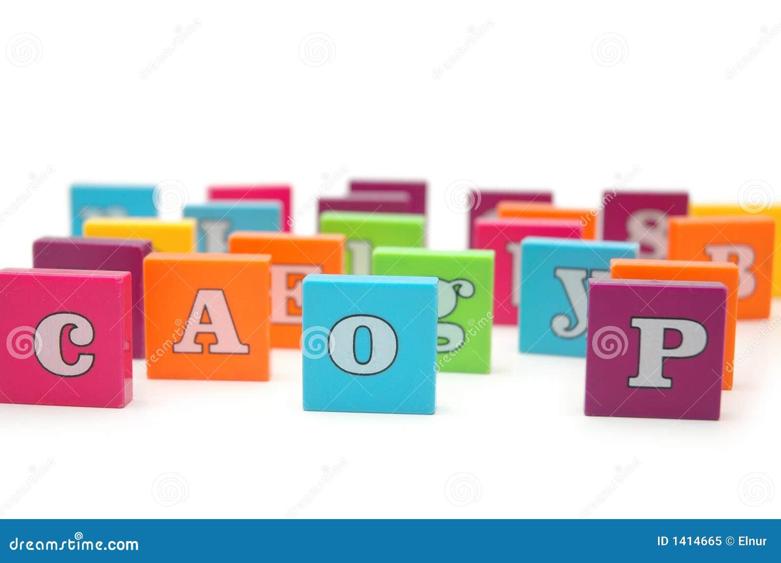 Diverses lettres d alphabet