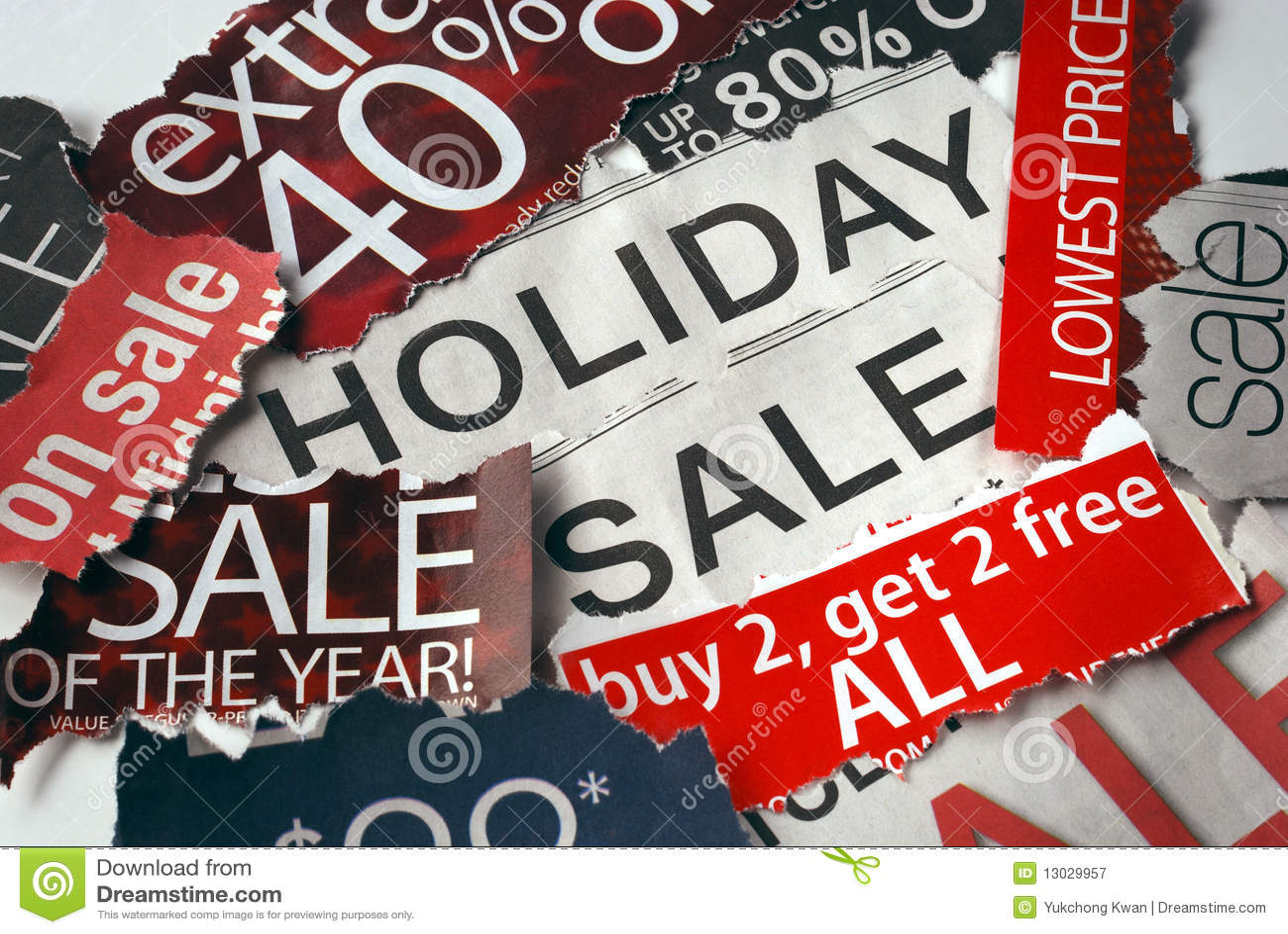 Diverses vacances en signes de vente