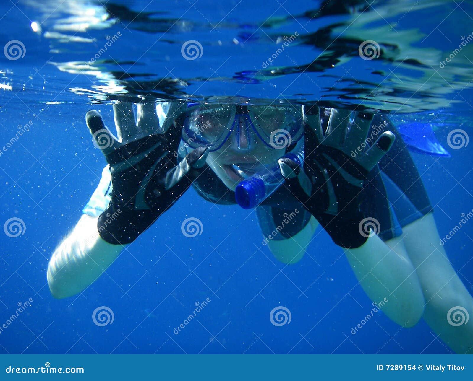 Diversión subacuática del tubo respirador