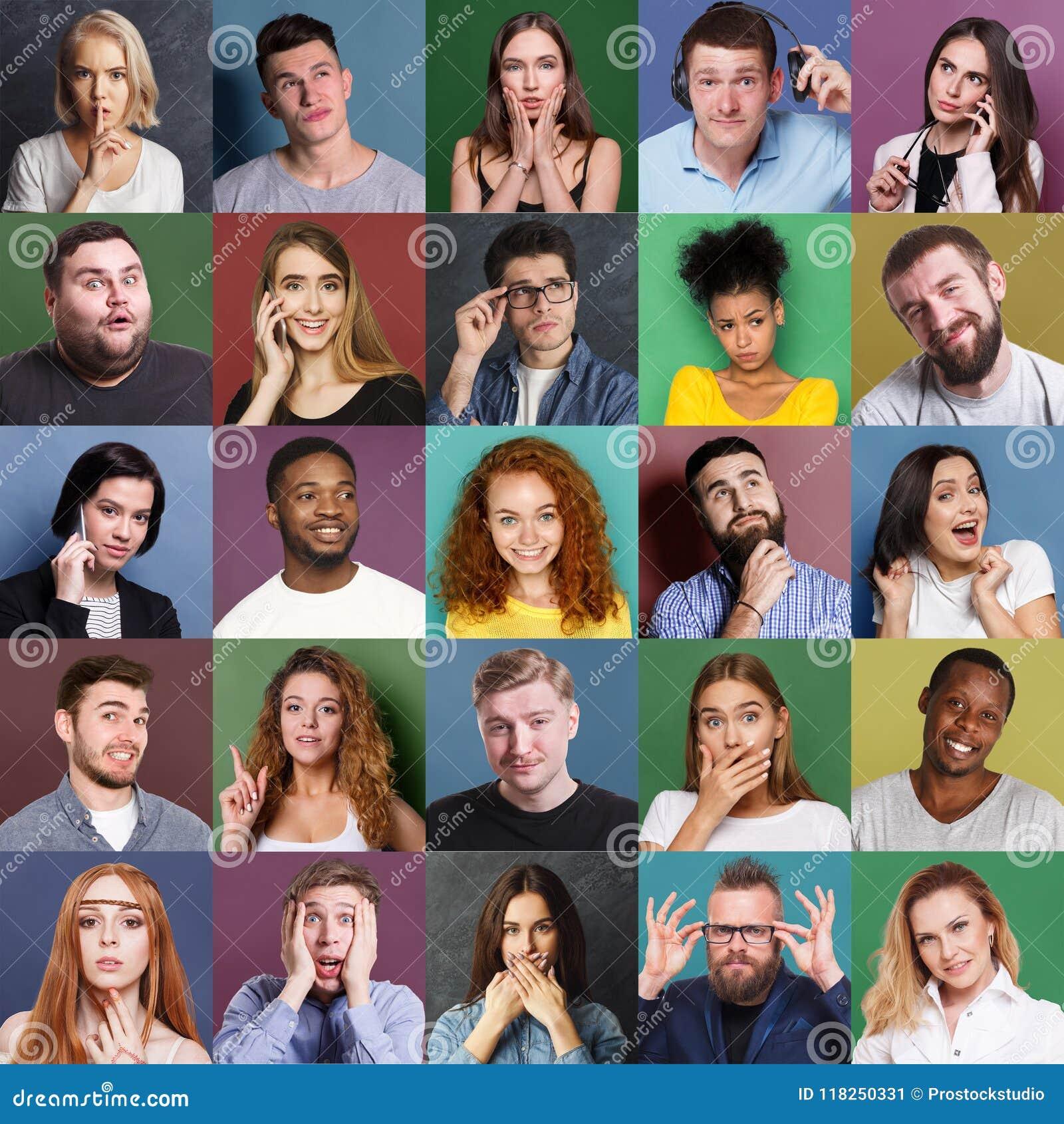 Diversi giovani positivi ed emozioni negative fissate