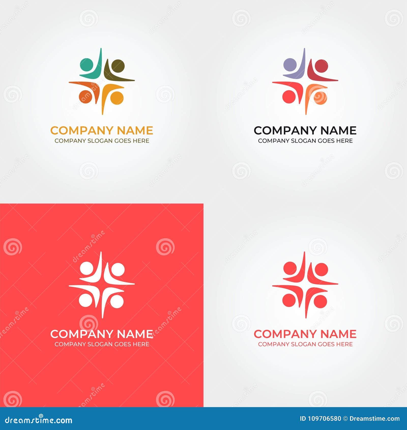 Diversidad Logo Icon Template De La Unidad De La Gente Stock de ...
