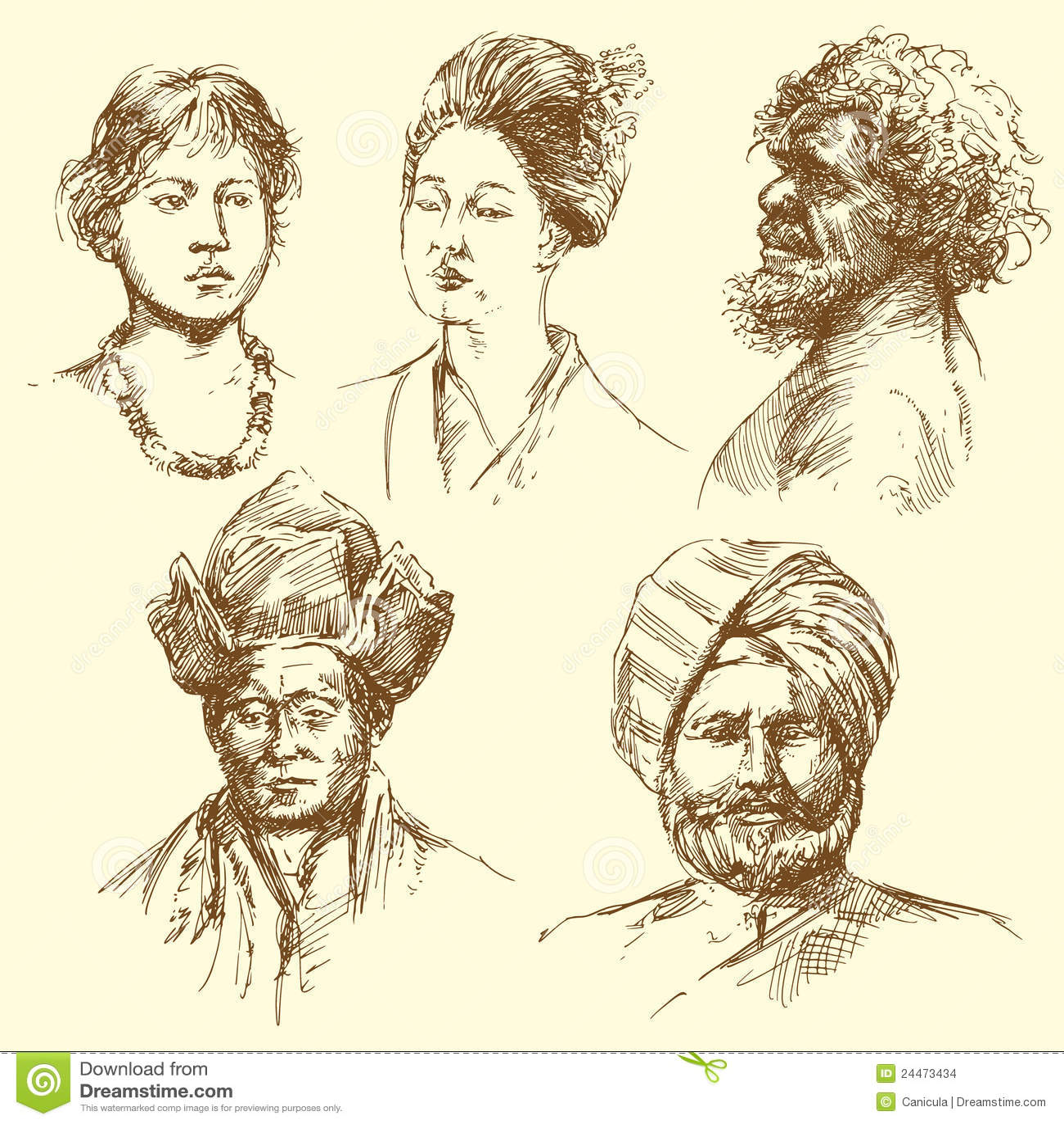 Diversidade humana - retratos