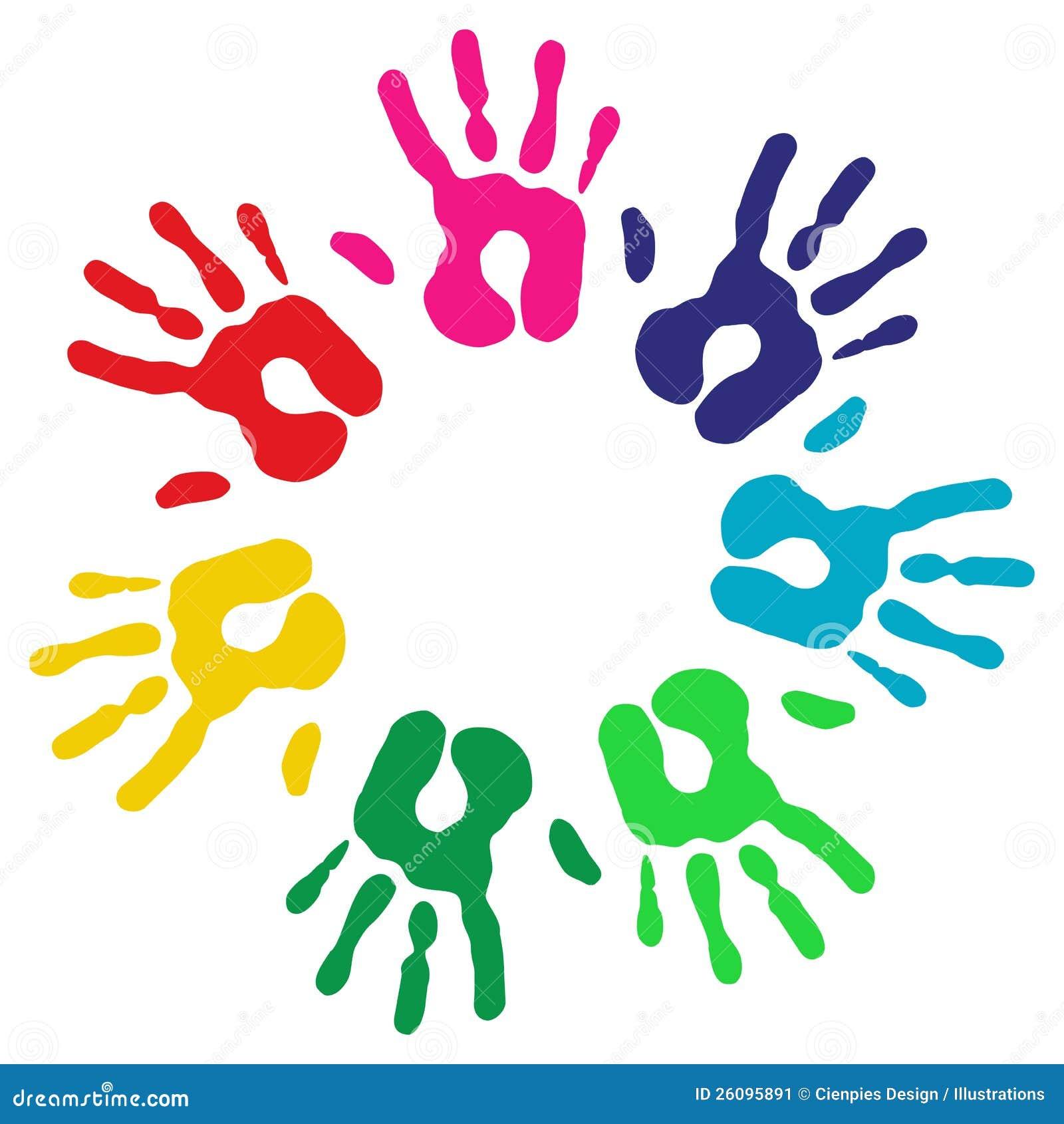 A diversidade Multicolor entrega o círculo