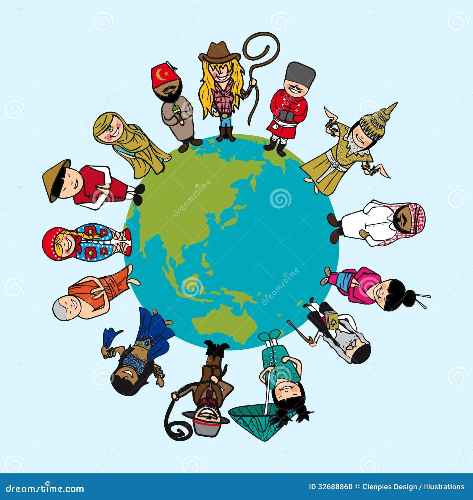 Diversiteitsconcept, mensenbeeldverhalen over planeetoor