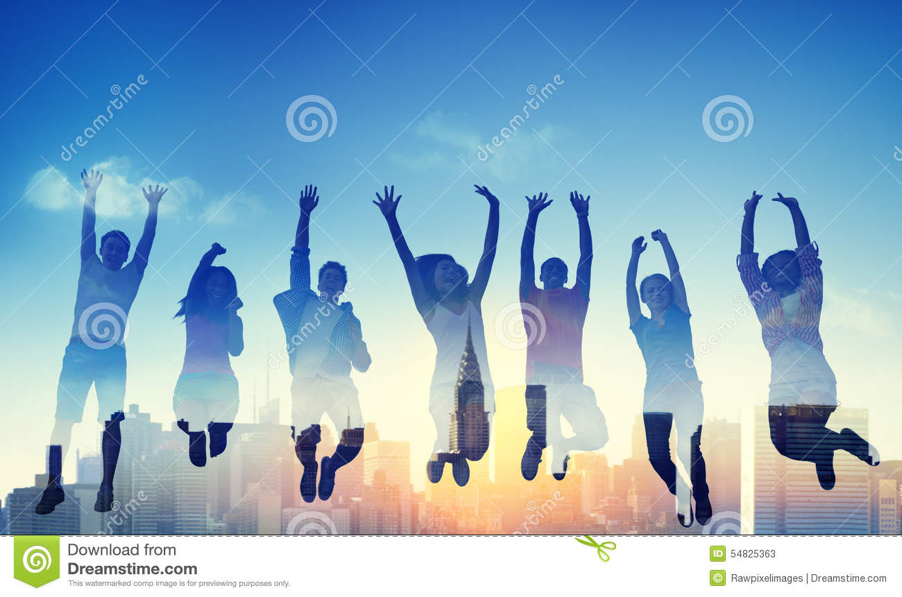 Download Diversity Casual Teenager Team Success Winning Concept Stock Image - Image of colourful, cityscape: 54825363