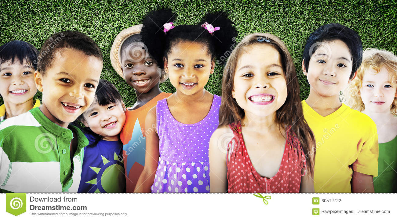 Stock Photo Diversity Children Friendship Innocence Smiling Concept Im...