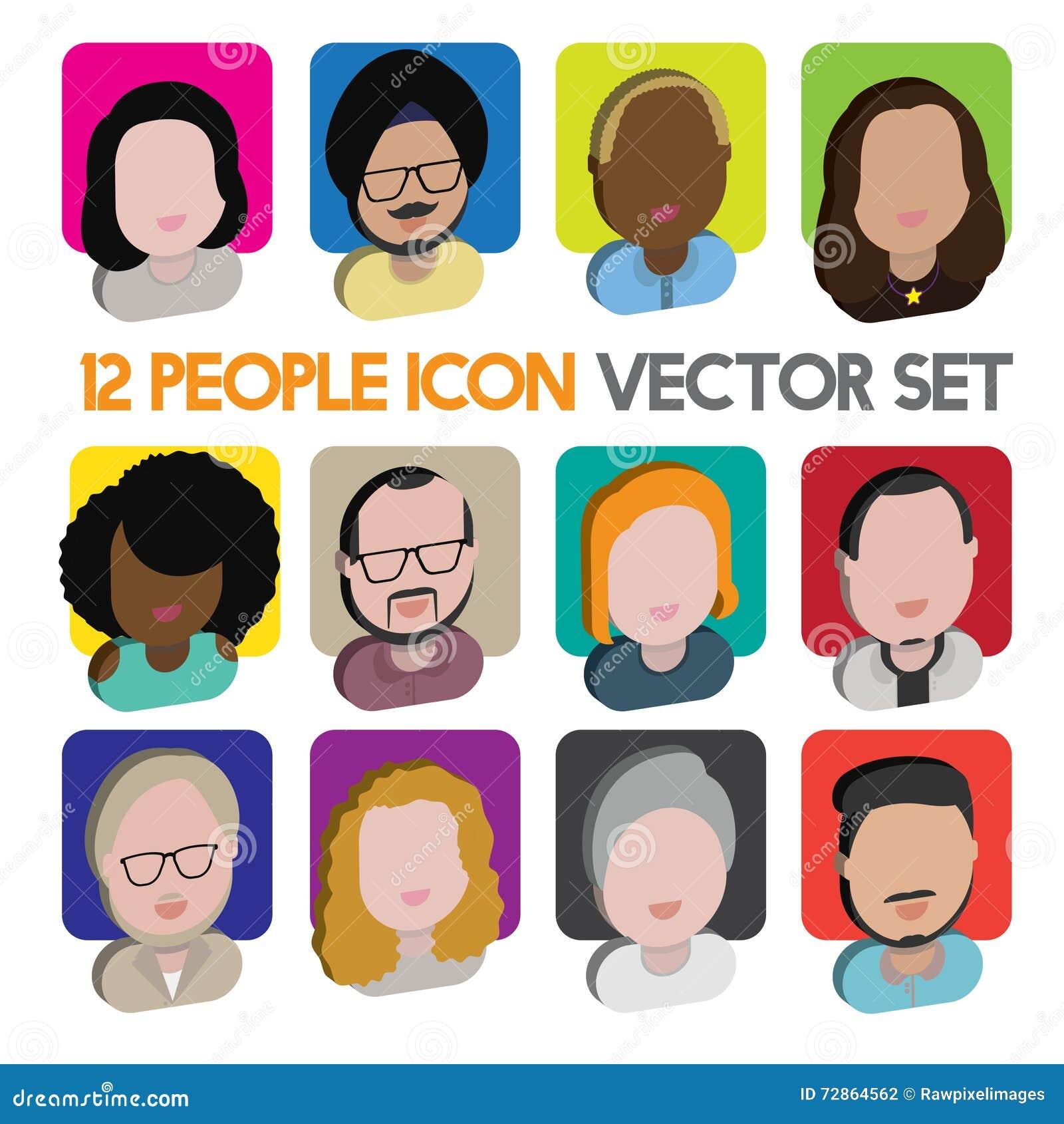 interracial icon graphics