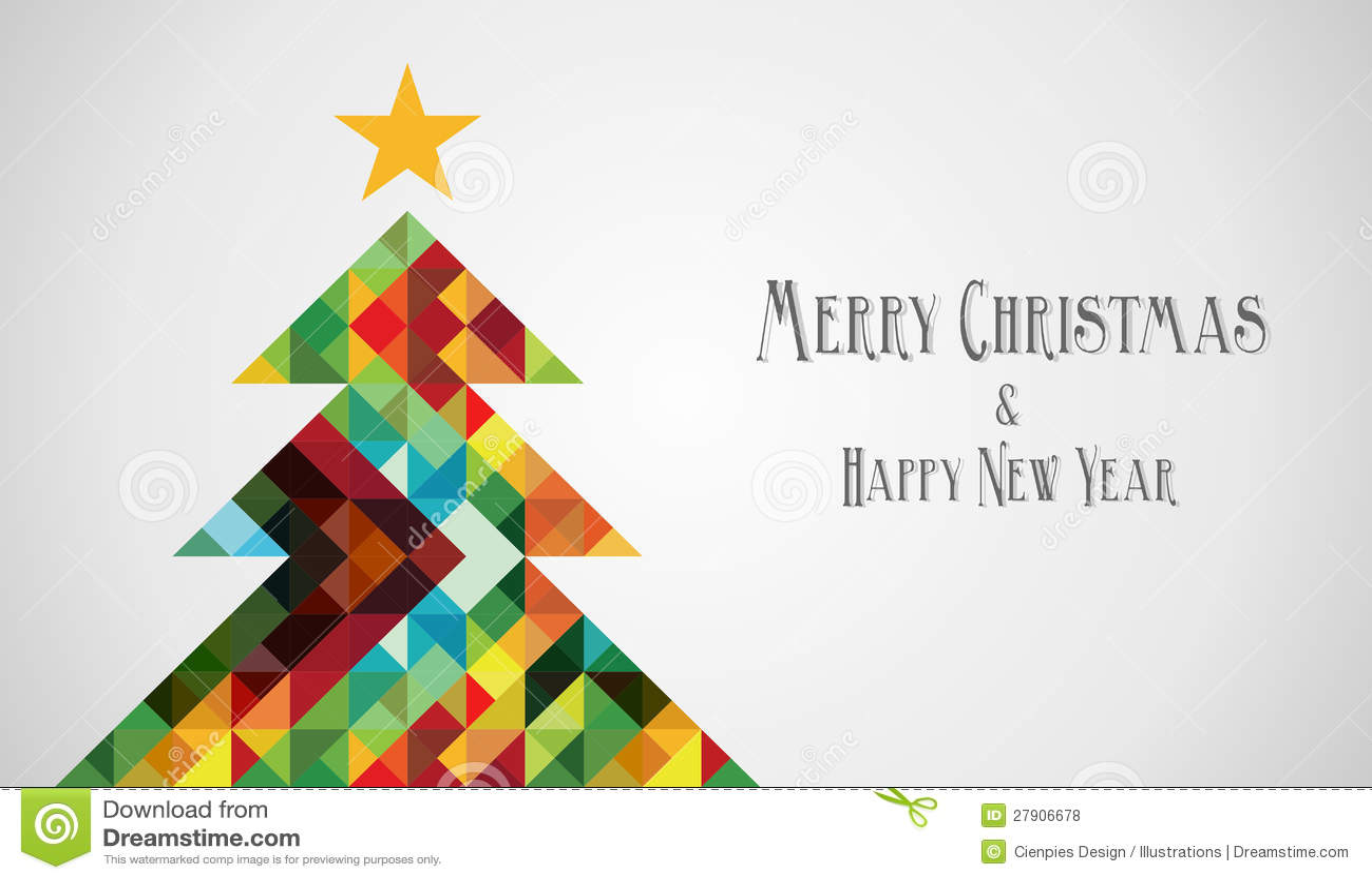 diversity mosaic arty christmas tree royalty free stock photos
