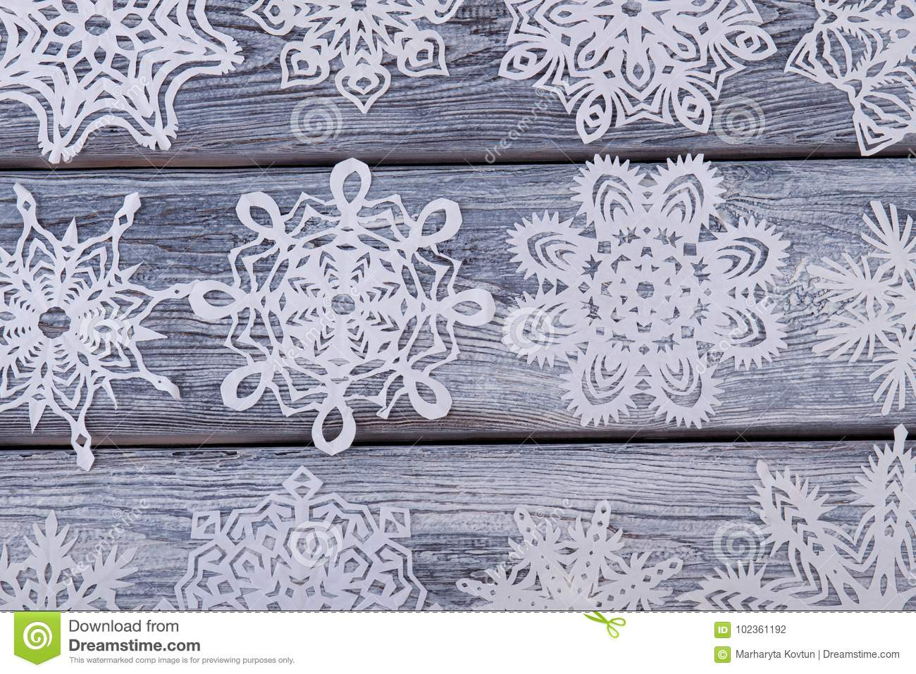 Diversity Of Paper Snowflakes Stock Photo Image Of Christmas