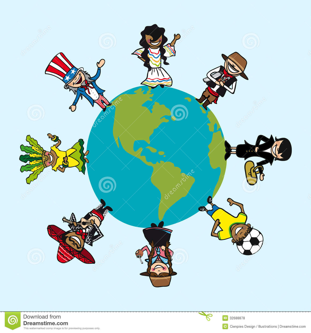 Diversity people cartoons over world map stock vector image diversity people cartoons over world map sciox Images