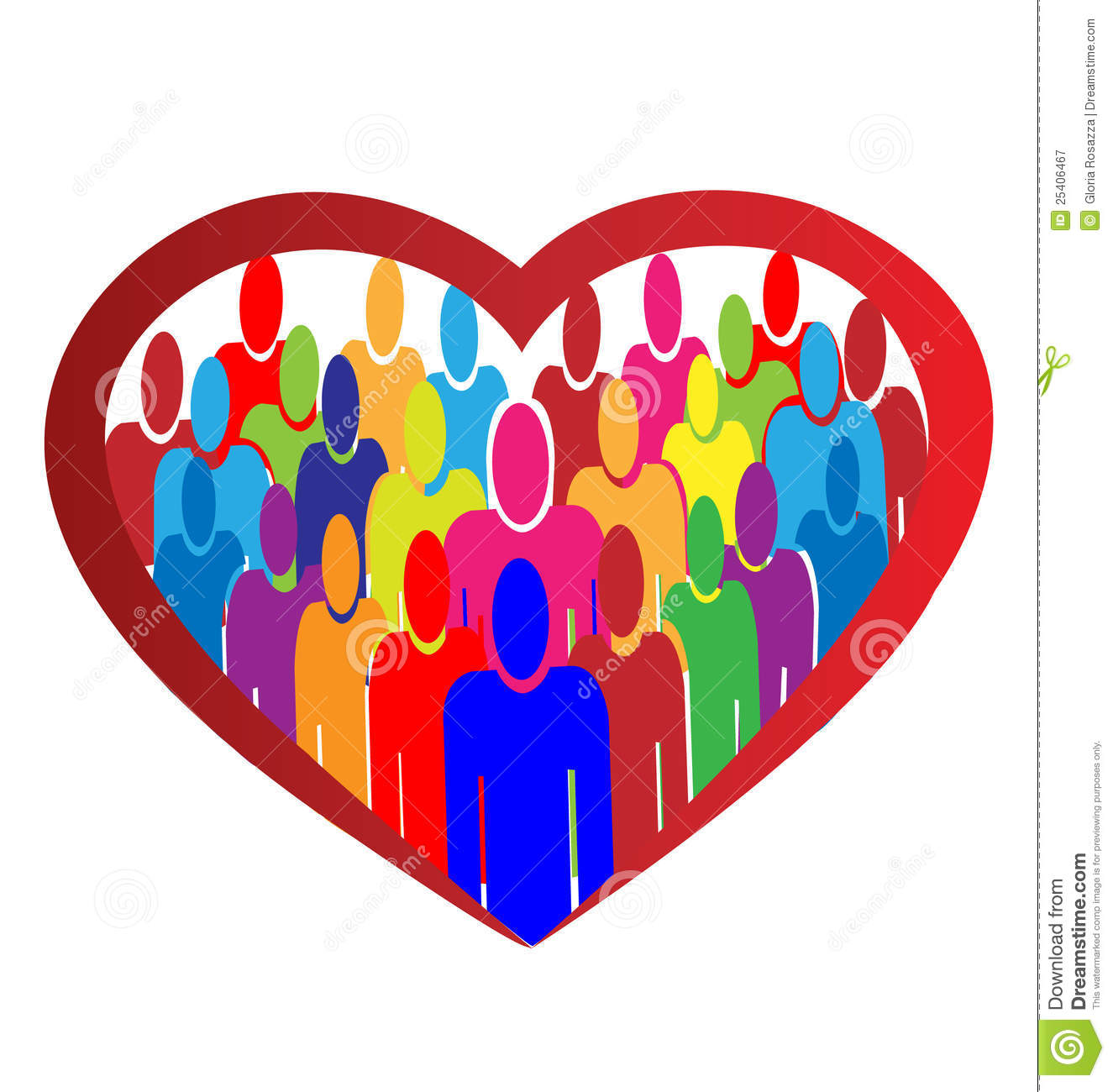 Diversity People Heart Logo Royalty Free Stock Photography - Image ...