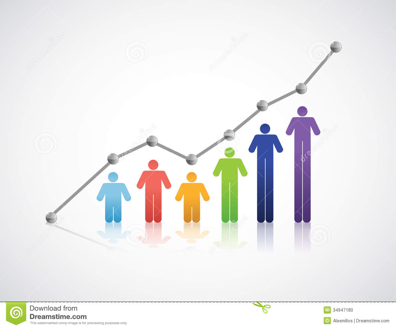 Diversity People Successful Graph Illustration Stock Photo - Image ...