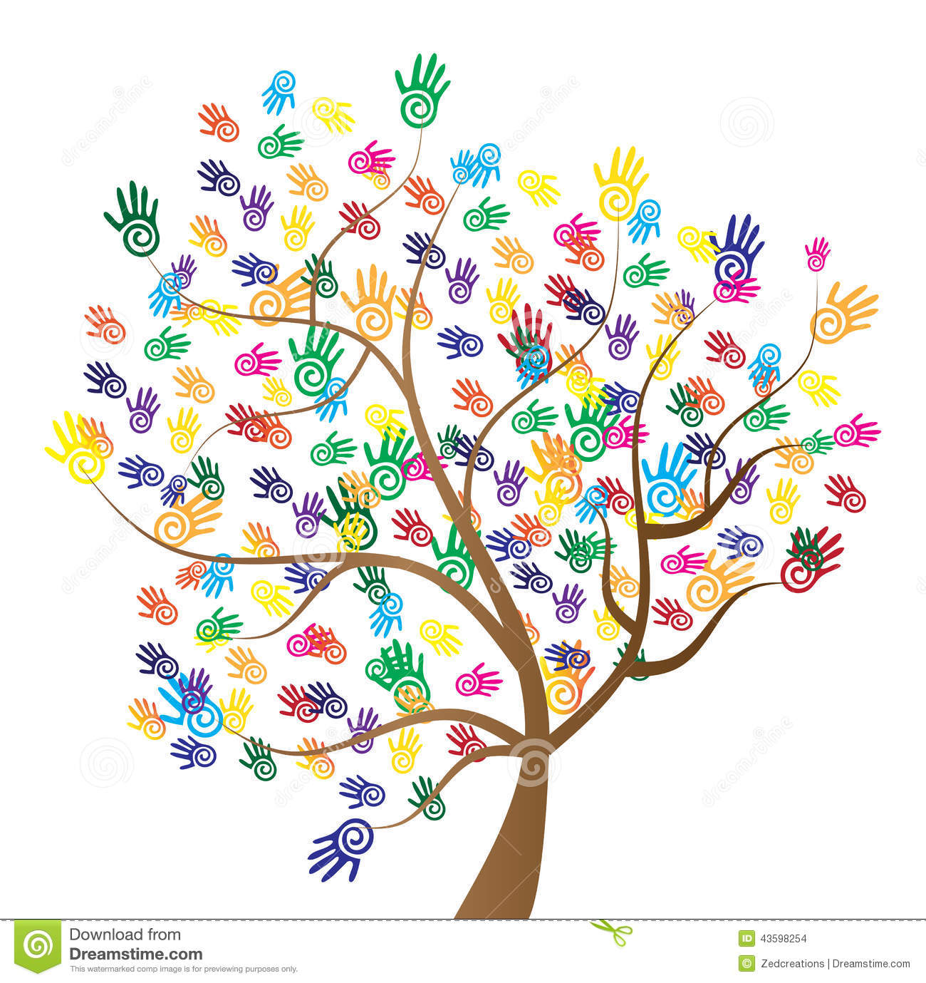 diversity tree hands stock illustration illustration of handprint vector free handprint vector free