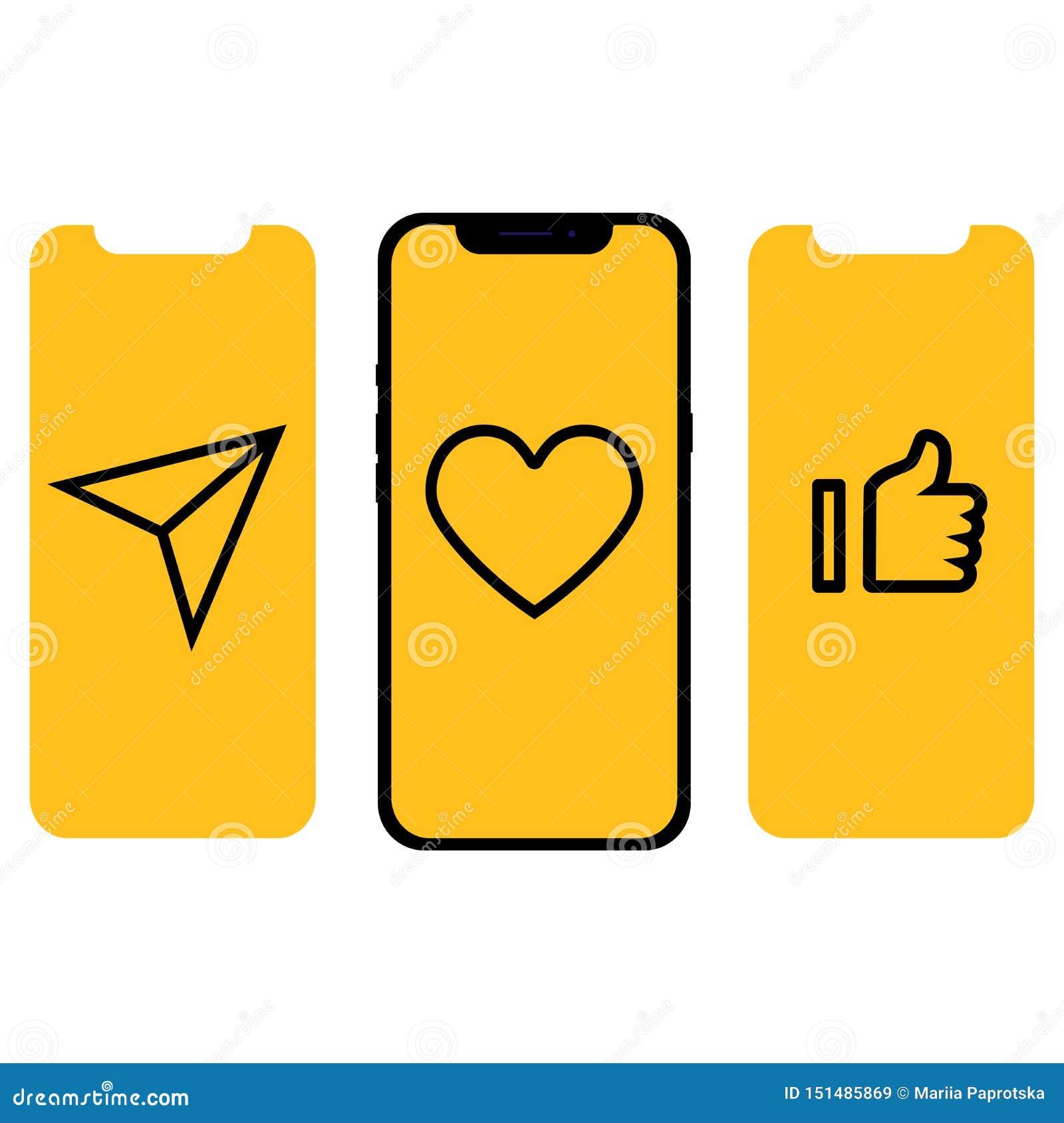 Diverso diseño UI, pantallas e iconos para el móvil