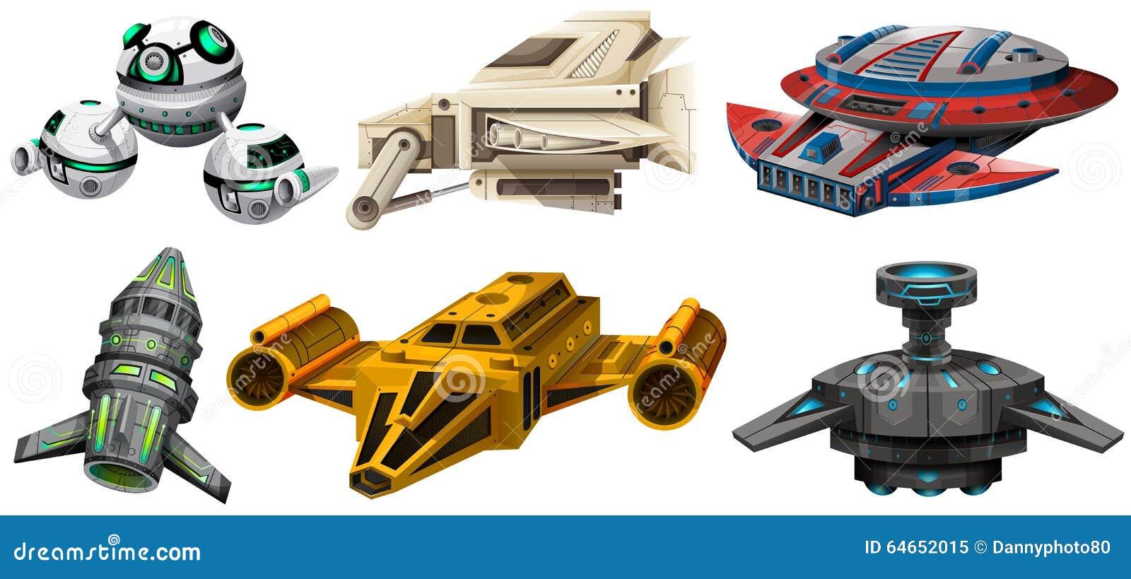 diverso dise o de naves espaciales ilustraci n del vector