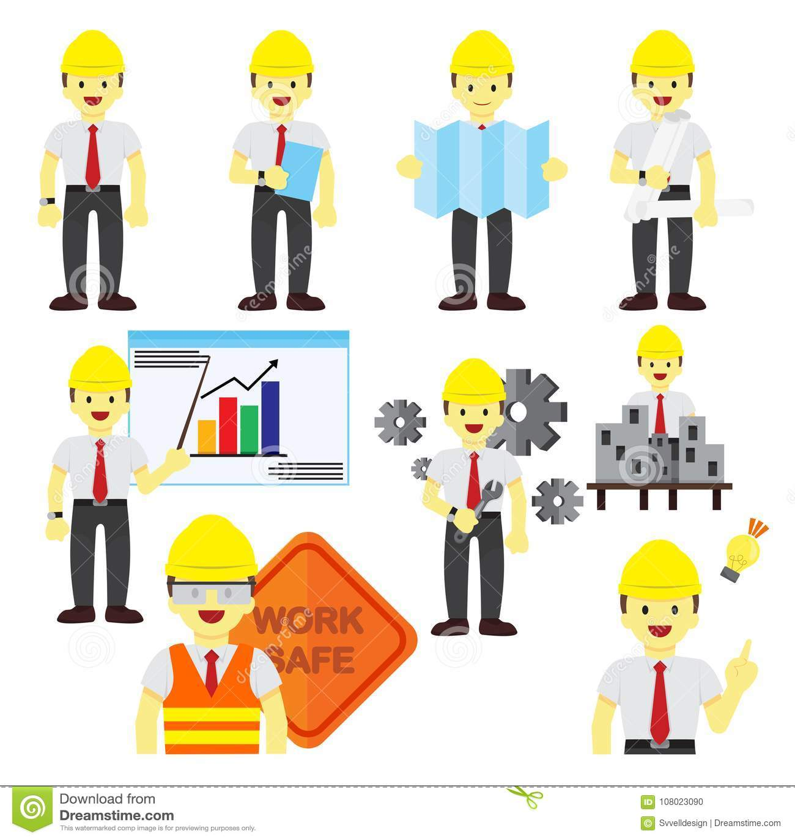 Diverso sistema profesional del gráfico del ejemplo del vector del empleo de la gente
