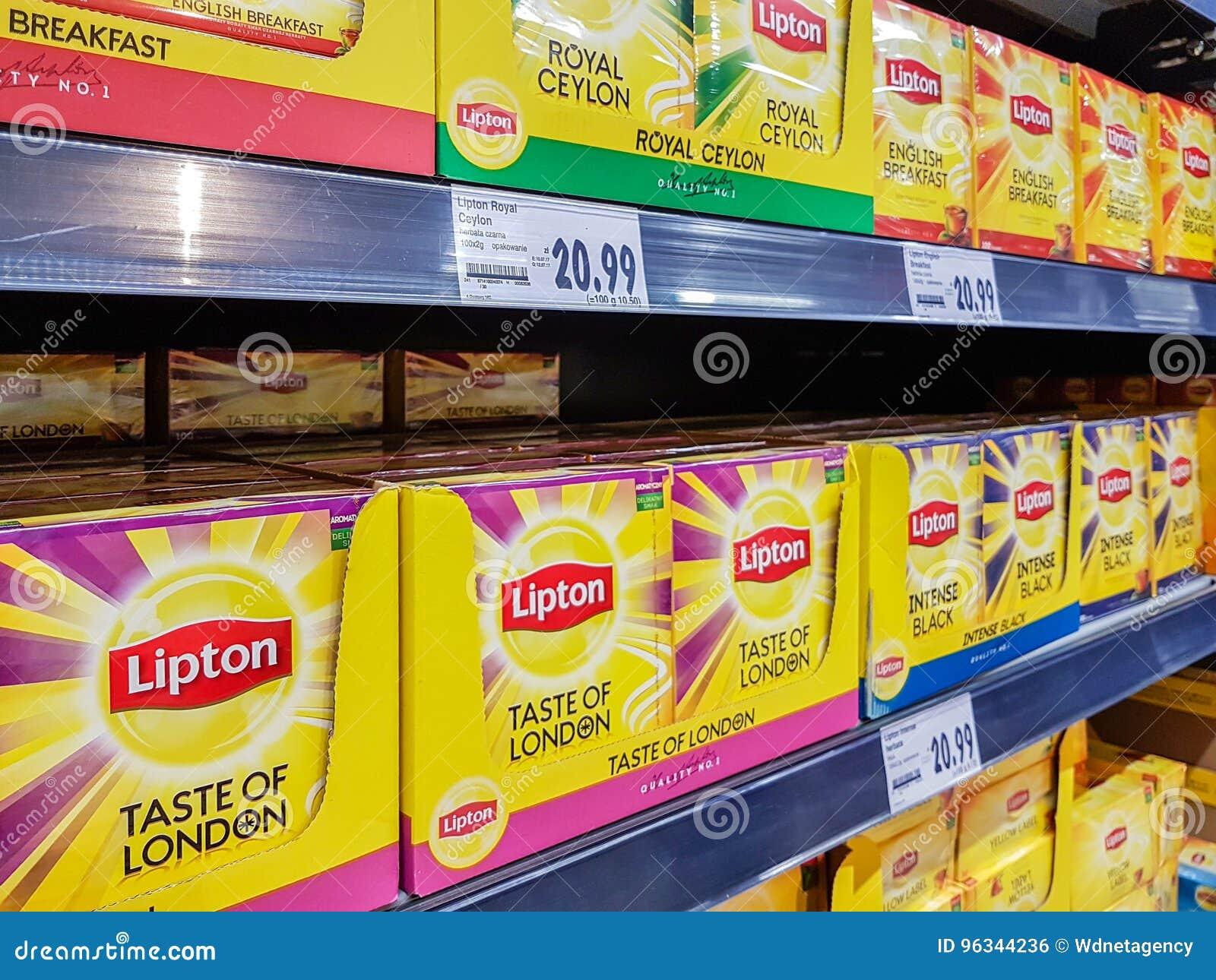 Diverso tipo de té de Lipton