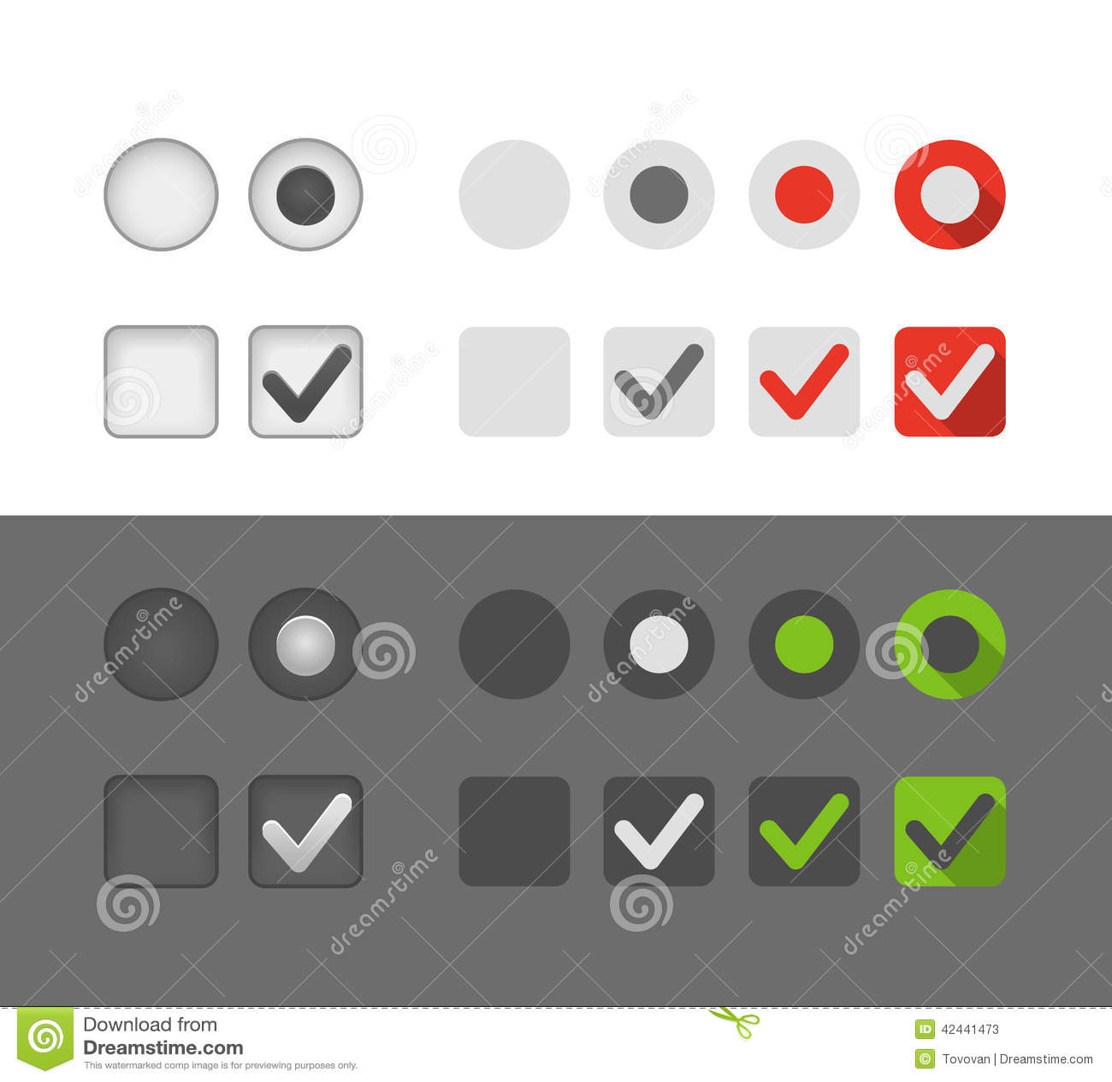Diversos botones del gráfico de la selección