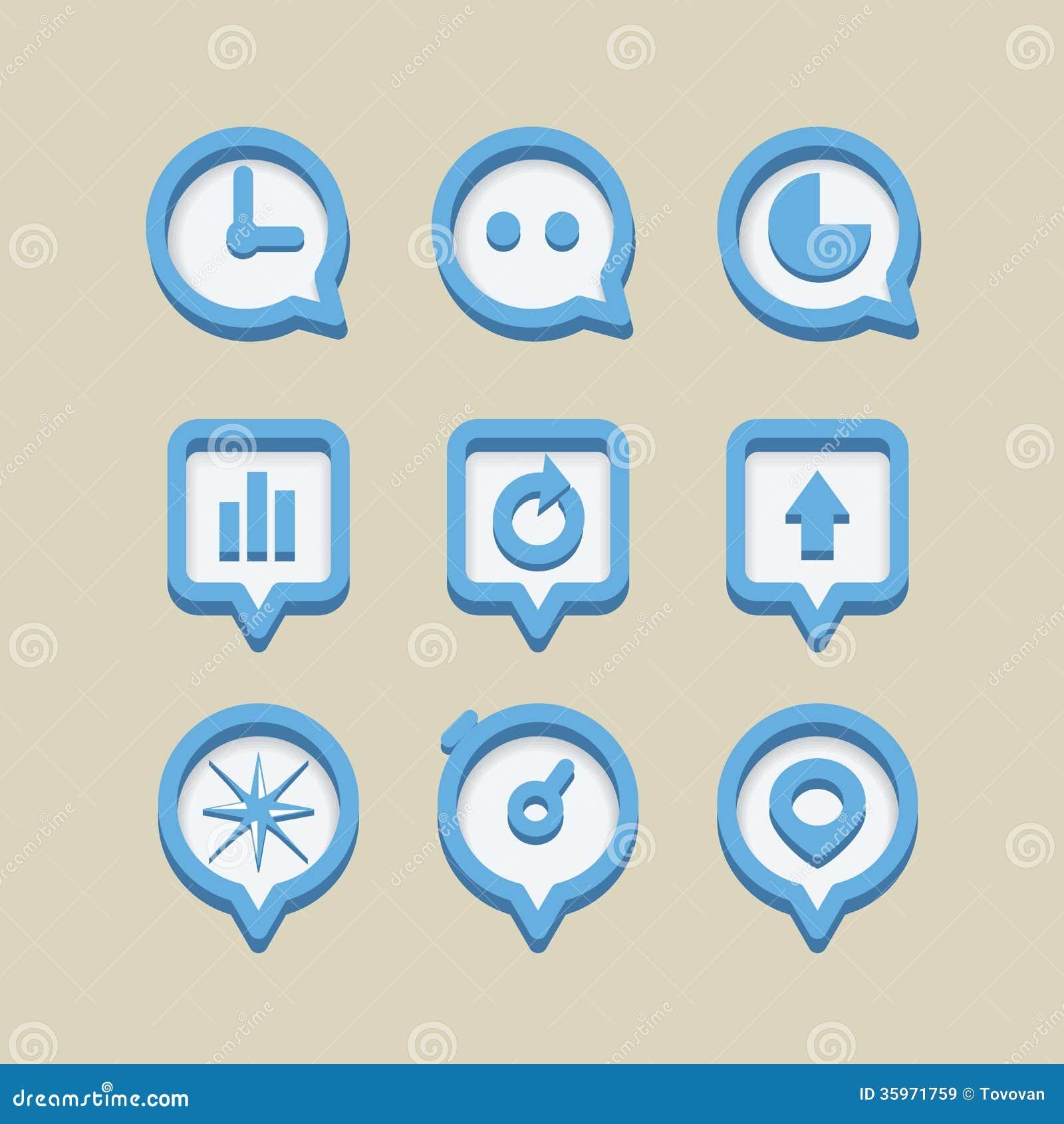 Diversos iconos del web