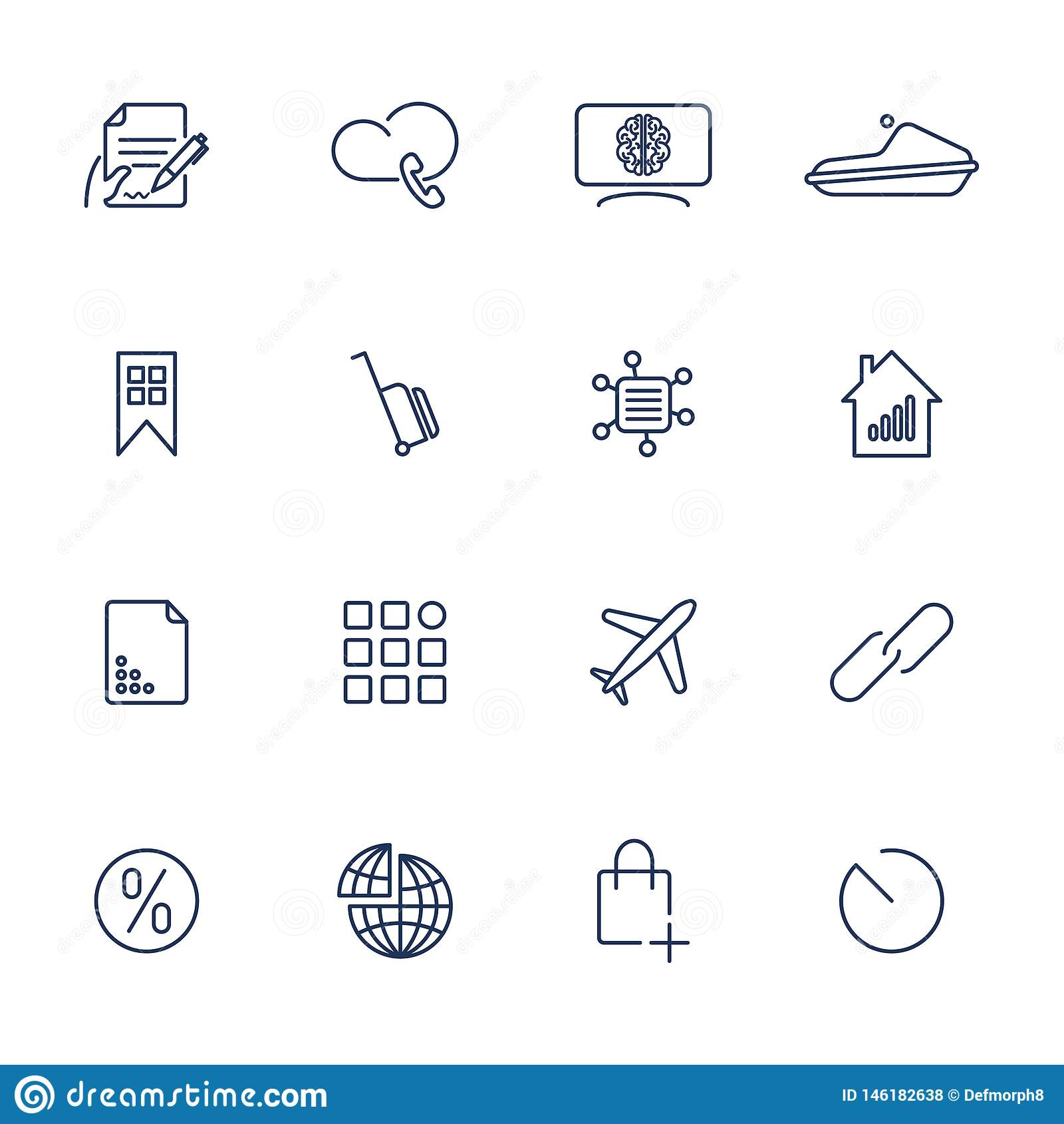 16 diversos iconos para el app, móvil, sitios