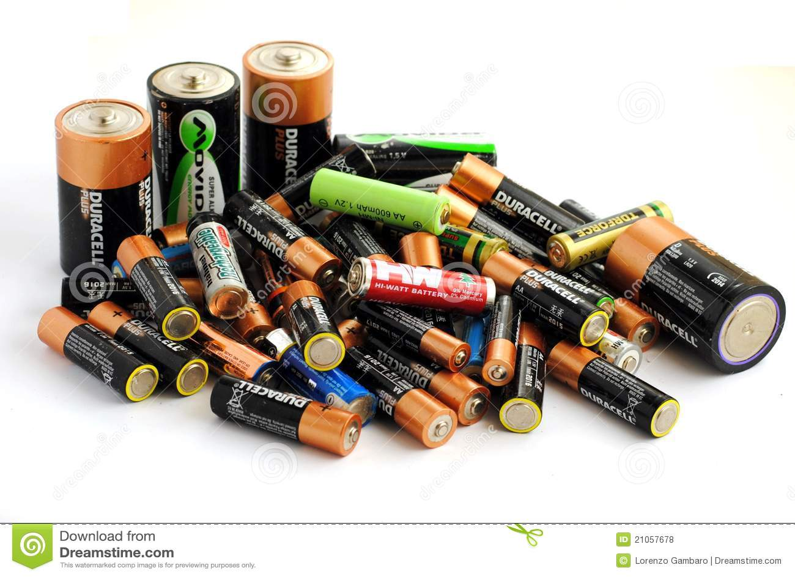 Diversos tipo de baterías, recargable y de disp