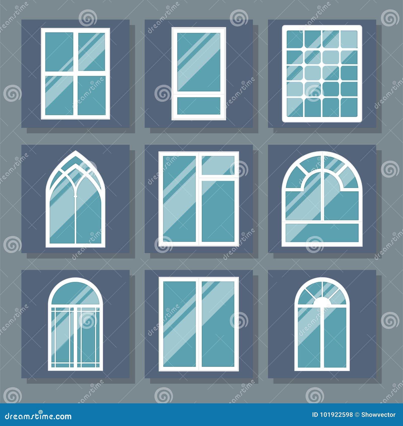 Diversos Tipos Contienen El Ejemplo Plano Del Vector Del Apartamento ...