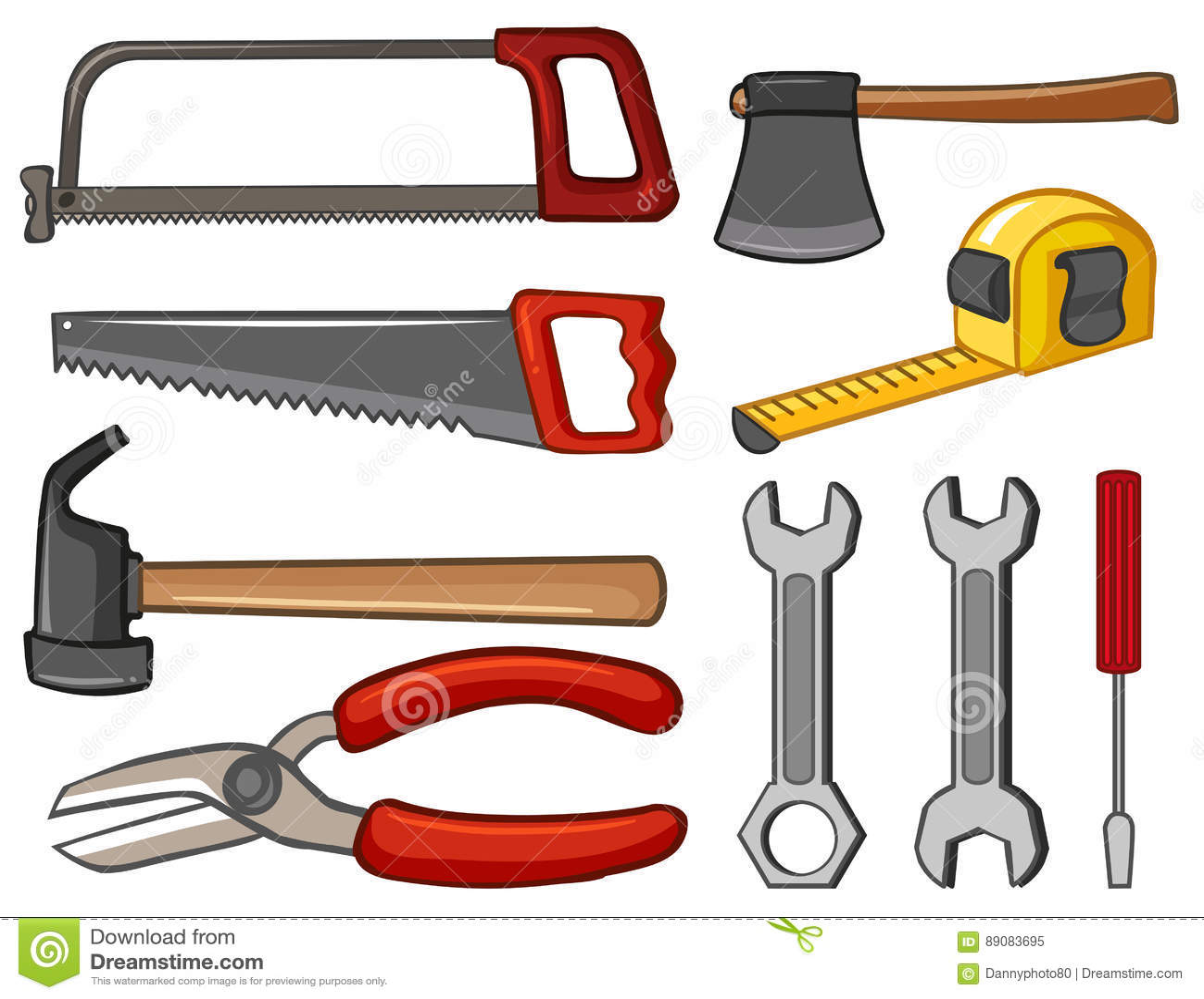 Diversos tipos de herramientas de mano ilustraci n del - Herramientas de mano ...