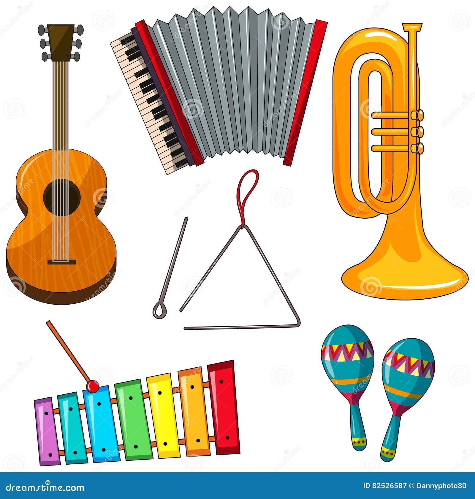 Diversos tipos de instrumentos musicales stock de ilustraci n imagen 82526587 - Instrumentos musicales leganes ...