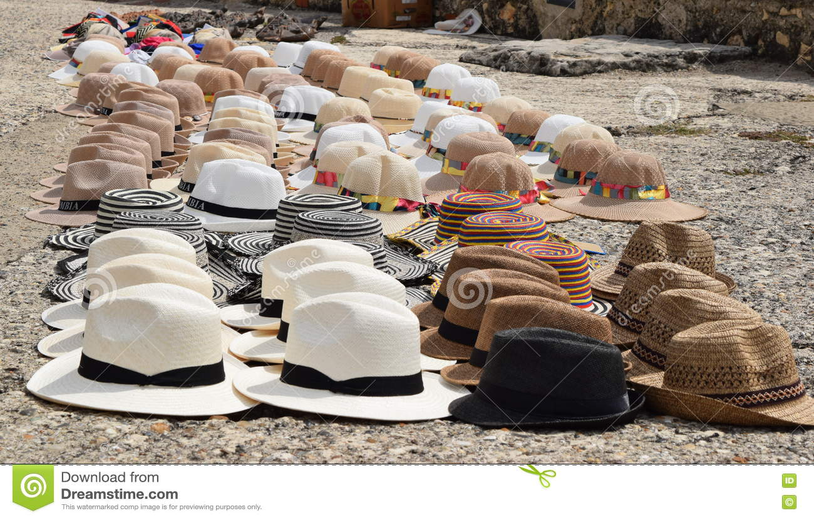 f05520826333f Diversos Tipos De Sombreros Tradicionales De Colombia Imagen de ...