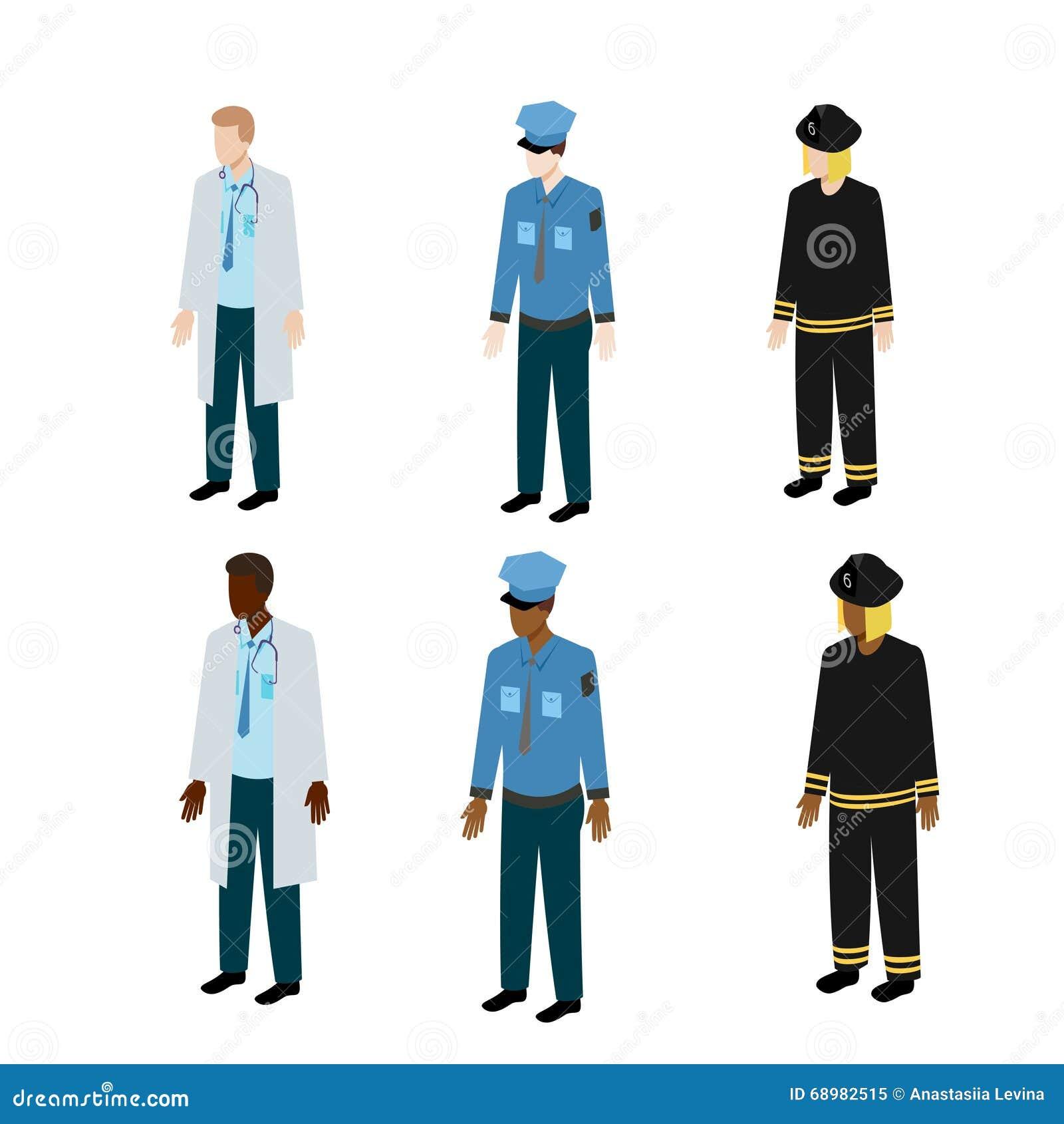 Diversos tipos de uniforme