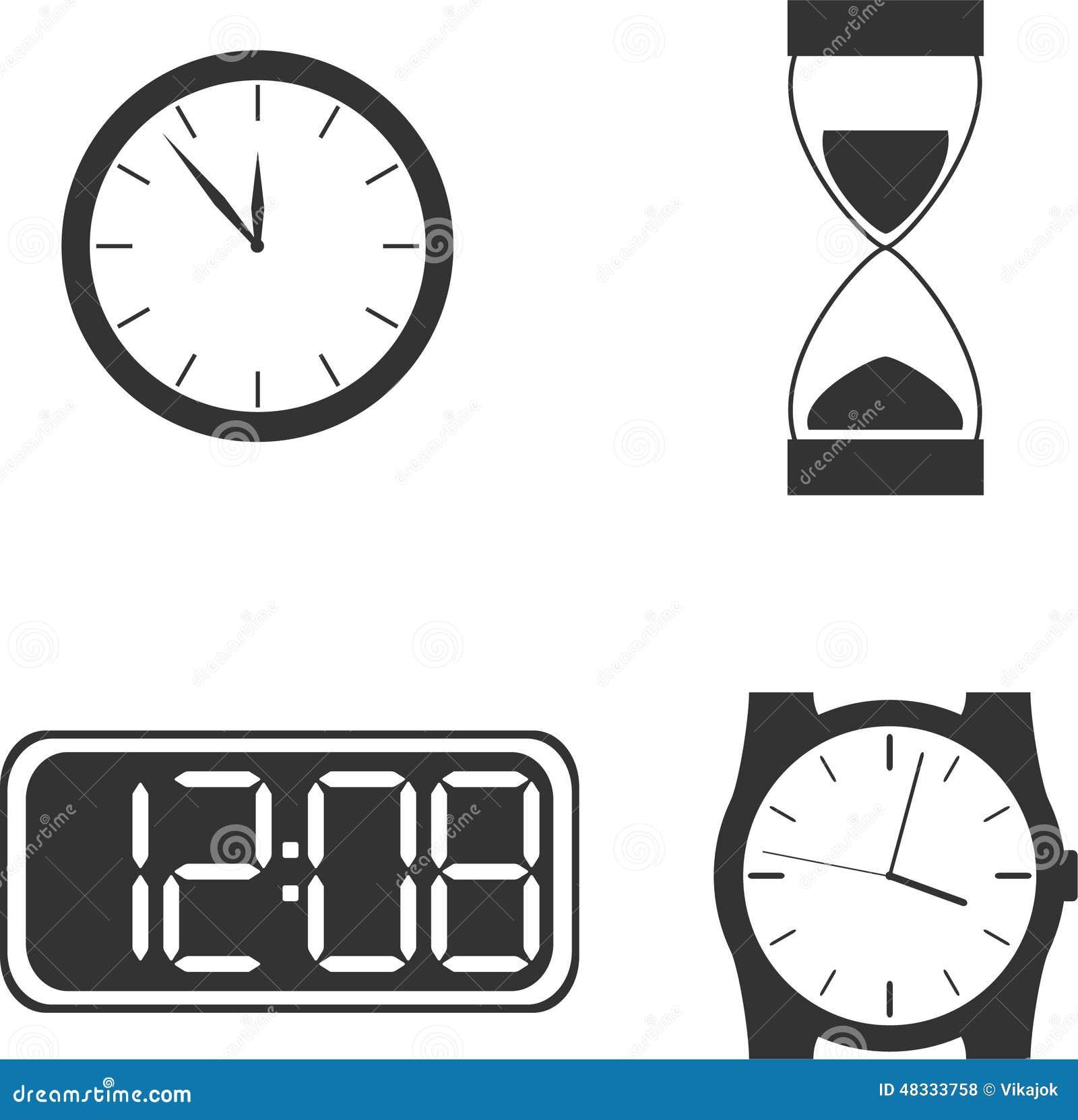 Diversos Tipos Del Reloj Ilustración Del Vector Ilustración De
