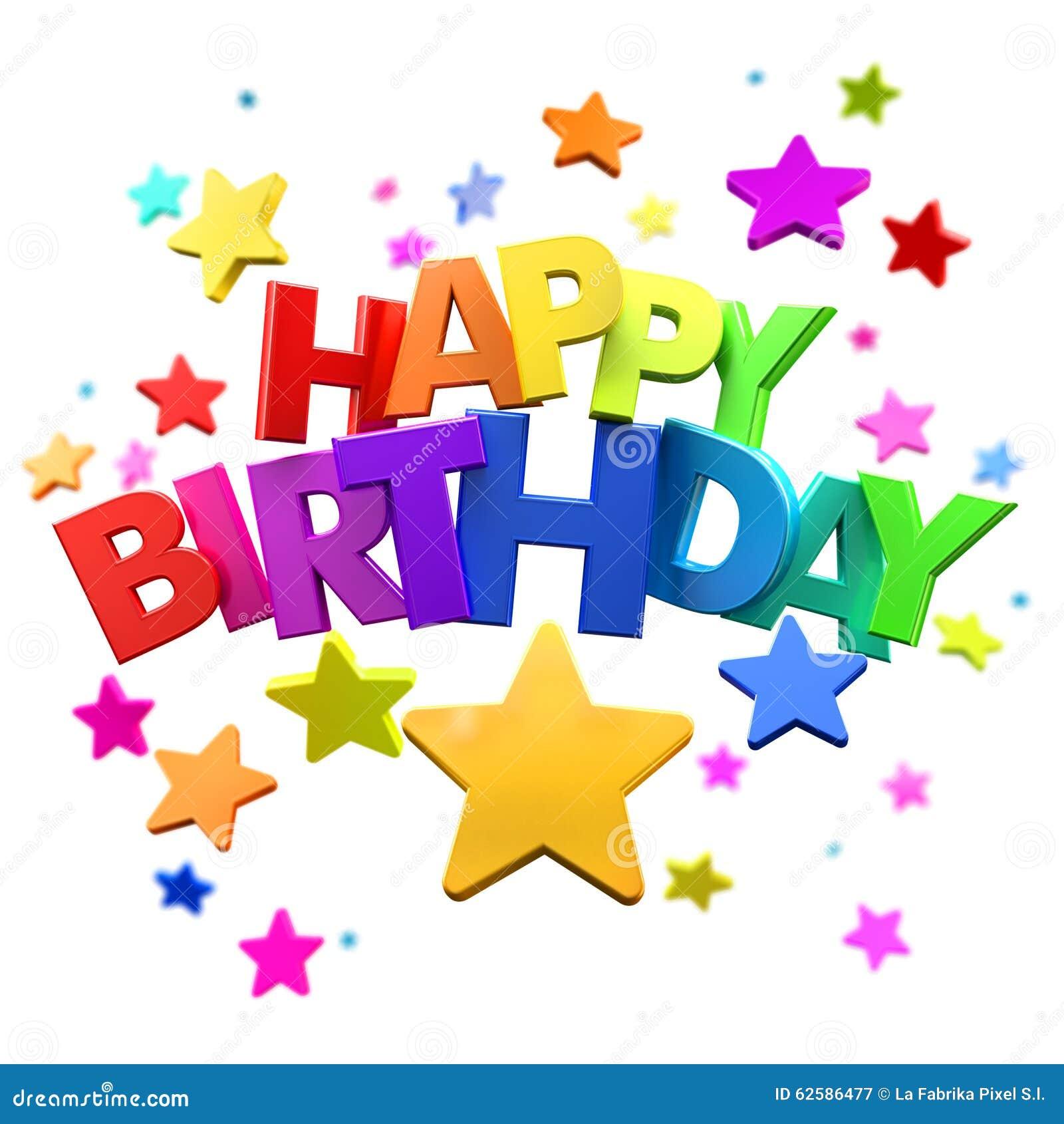 Divertimento Di Buon Compleanno Illustrazione Di Stock Illustrazione Di Compleanno Multicolore 62586477
