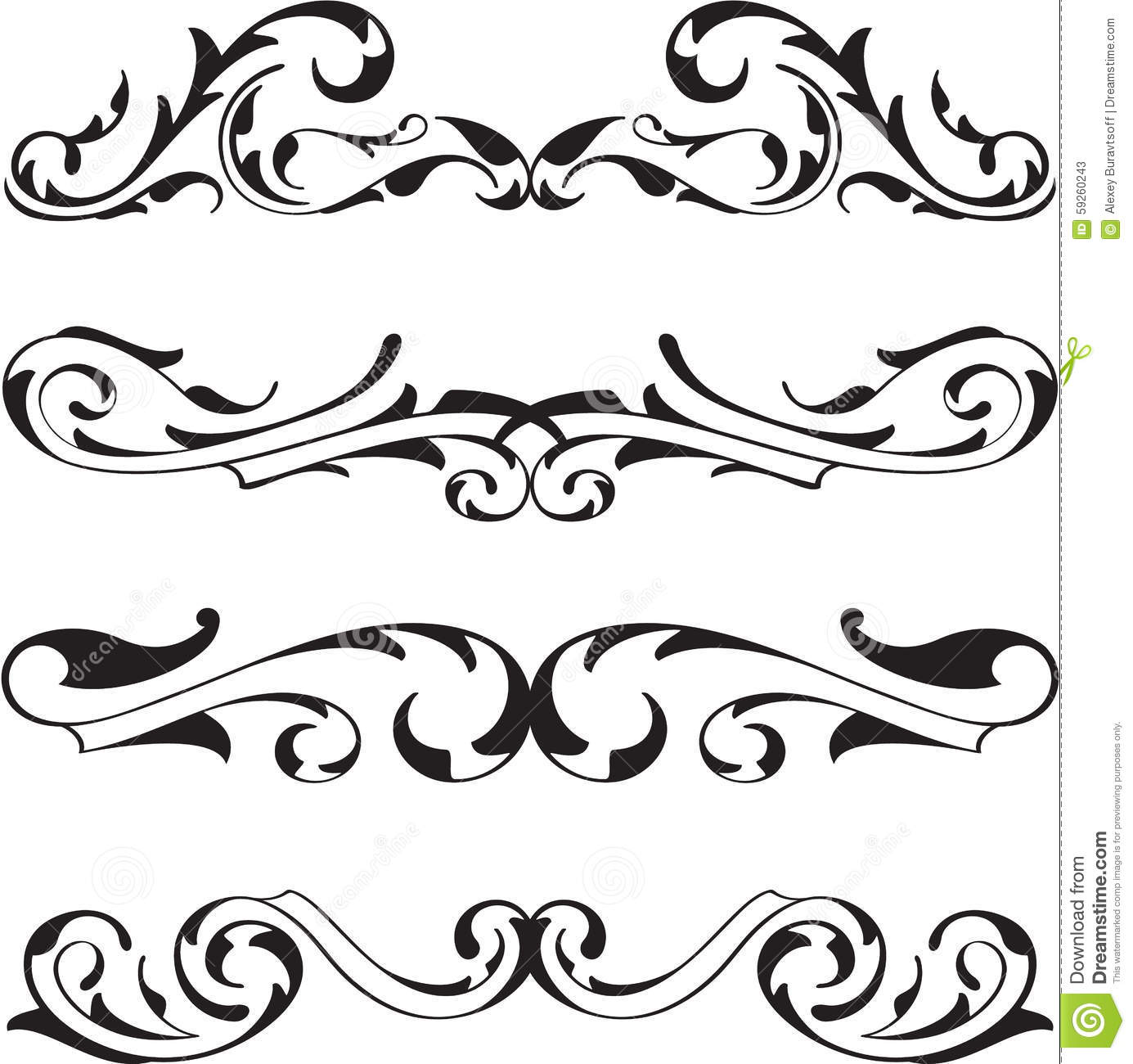 Victorian Design Elements divide victorian design elements set stock vector - image: 59260243