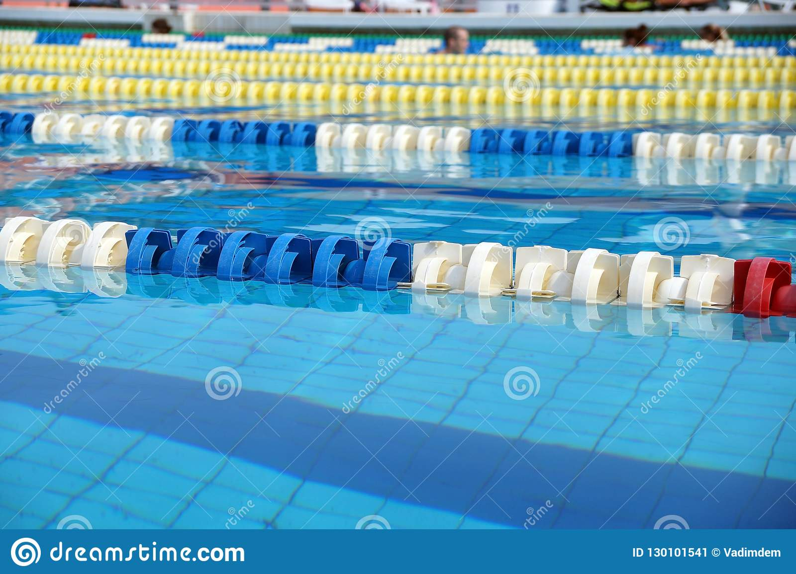 Dividers Of Paths In The Big Swimming Pool Stock Image ...