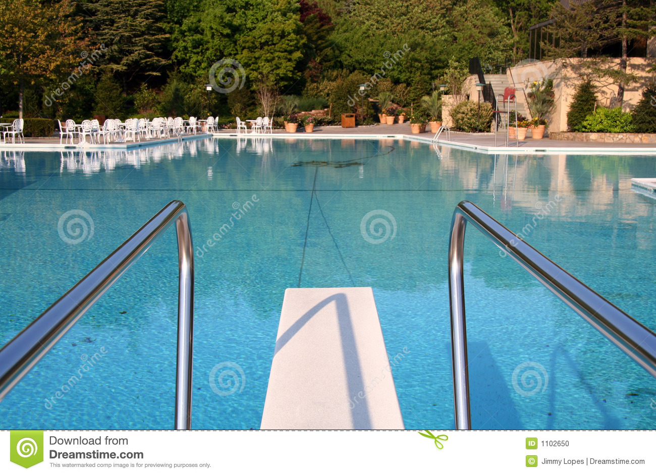 Diving Board Stock Photo Image 1102650