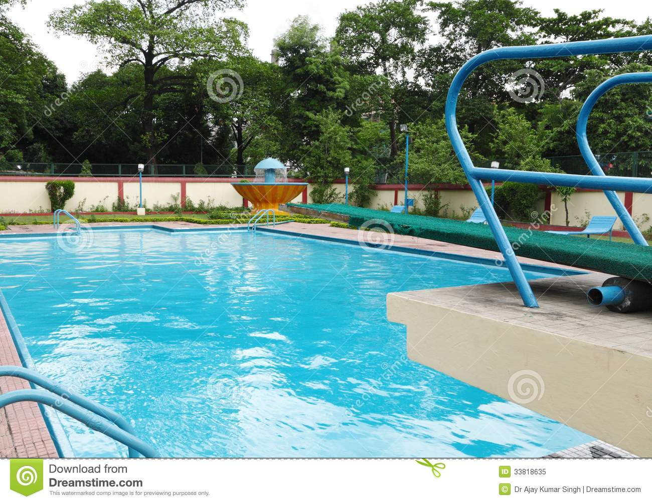 Diving Boat In A Swimming Pool Royalty Free Stock Photo Image 33818635