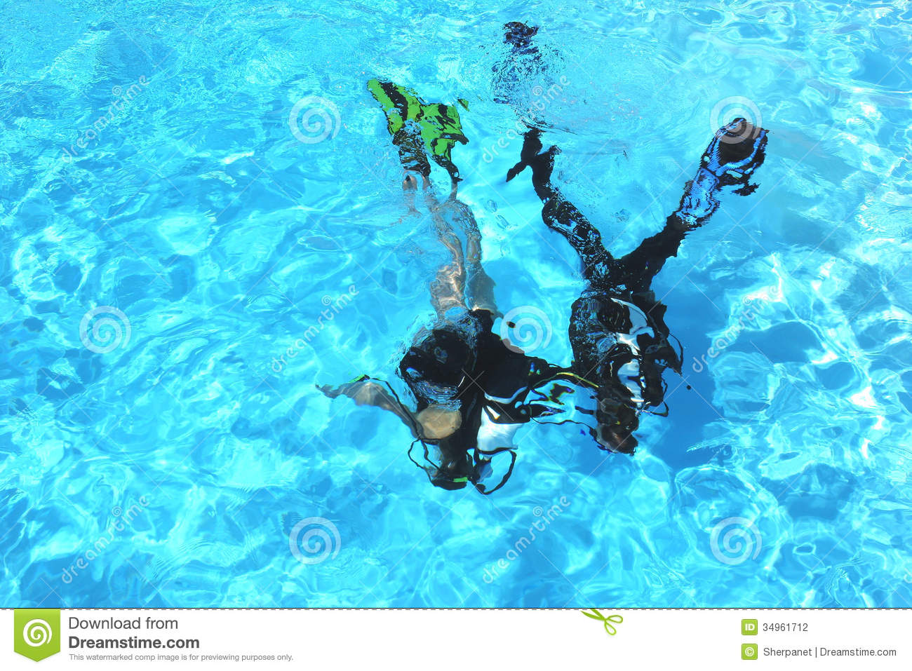 Diving Course Stock Photography Image 34961712