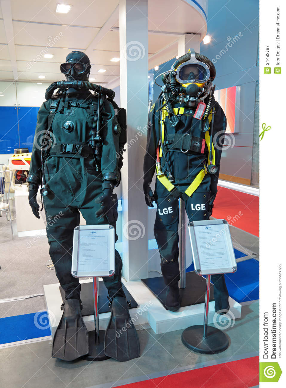 Exhibition Stand Photography : Diving equipment editorial photography image