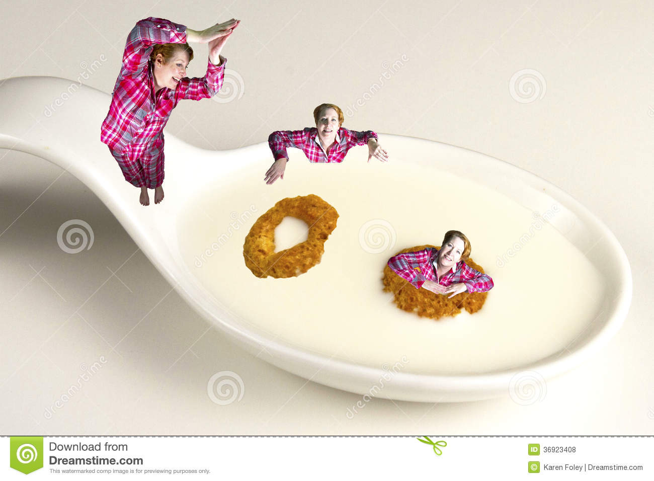 Download Diving Into A Healthy Breakfast Stock Photo - Image of enjoying, milky: 36923408